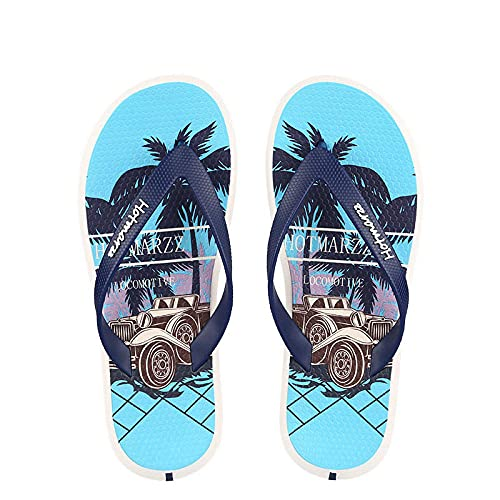 YYFF Planas Caminar Ortopedicas Zapatos,Slit, Pantuflas Impermeables para Hombre-Azul Marino_42,Sandalias Hombre