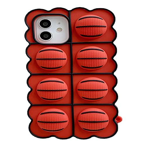 La Persona Agitada Juega La Caja para El iPhone, Alivia La Cubierta del Teléfono De La Tensión, Teléfono Shell del Baloncesto del Silicón para El iPhone (for iPhone 7 Plus,Basketball)