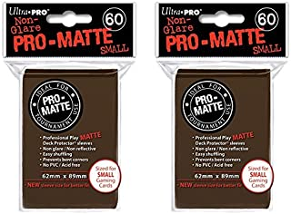 Ultra Pro Brown Small Pro-Matte Deck Protectors Sleeves Colors Yugioh Vanguard [2 Pack of 60] na