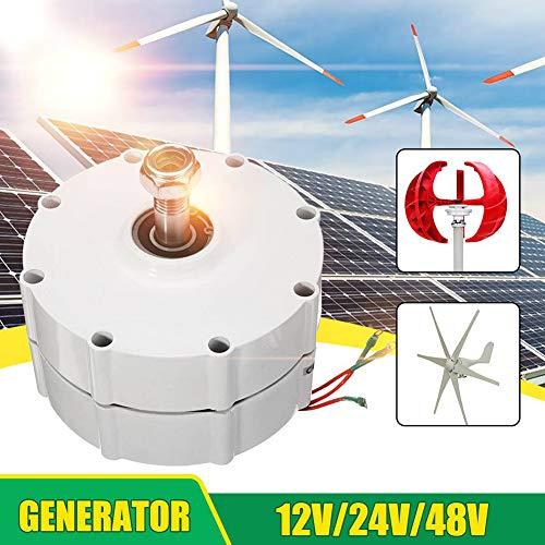 LQQ 400w / 500w / 600w / 800w 12v / 24v / 48v Generador De Imanes Permanentes Alternador De Ca para Aerogenerador Vertical U Horizontal W Generador De Viento,600W-48V