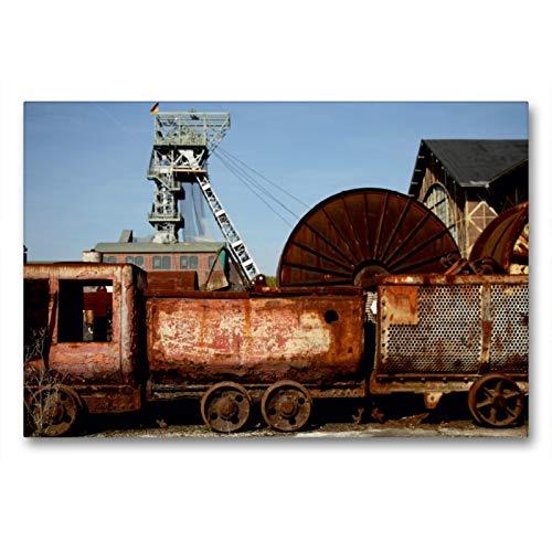 Premium Textil-Leinwand 90 x 60 cm Quer-Format Zeche Zollern | Wandbild, HD-Bild auf Keilrahmen, Fertigbild auf hochwertigem Vlies, Leinwanddruck von Peter Schickert