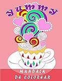 MANDALA DE COLOREAR: cuaderno colorear adultos y niños ,frutas, helado...,/cuadernos dibujo mandala/cuadernos de pintar mandalas flores