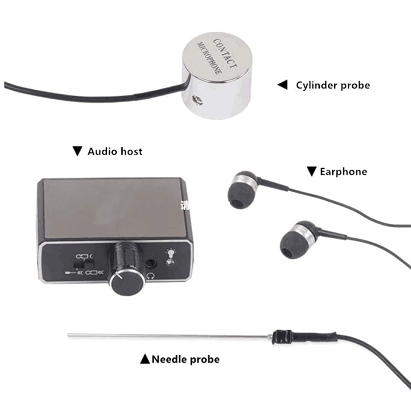 Spy Tec Highly Sensitive Audio Wall Probe with Amplification up to 20000x New Super Sensitive Listen Thru-Wall Contact/Probe Microphone Amplifier System