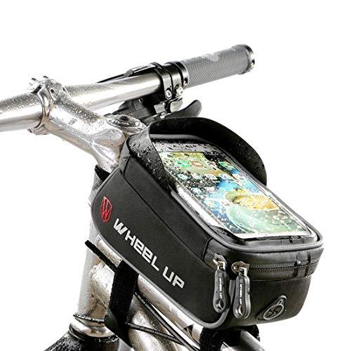 Fahrrad Rahmentasche, Fahrrad Oberrohrtasche Tasche, XPhonew wasserabweisend Fahrrad Handytasche Vorderes Rohr Rahmen Tasche Halter für iPhone XS X 8 7 6S 6 Plus Samsung Sony Smartphones bis 6 Zoll