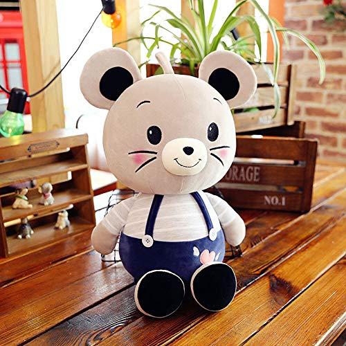 Pluche Fabriek Zorgzame Muis Pop Knuffel Rat Jaar Pop Kinderen Lappenpop Verjaardag Pop Meisje Groothandel-Blauw Zorgzame Muis _ 34 Cm 0.16kg