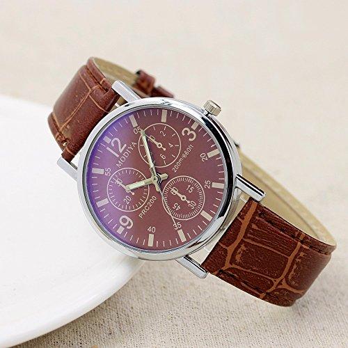 Liusdh - Reloj de pulsera para hombre (mecanismo de cuarzo, correa de cristal), color azul
