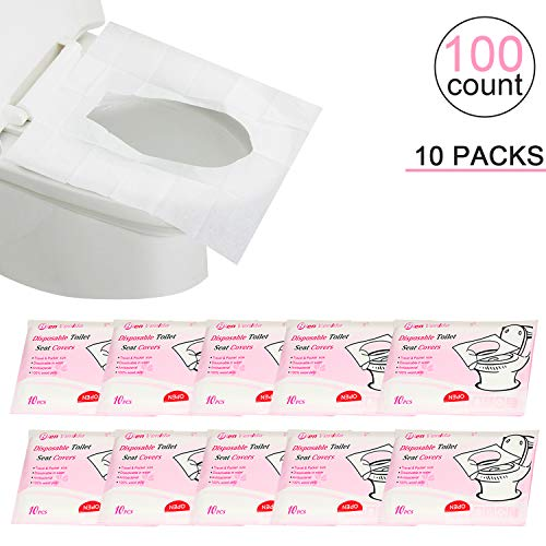 Resealable 36 PURE WOOD Disposable Paper Toilet Seat Adults Kids Toddler Potty Training 24//36 Counts Set Covers Flushable Paper Travel Pack