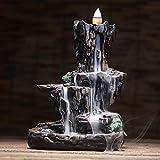 FQYYDD Quemador de Incienso de Cascada, Fuente de Estufa de Incienso de montaña y cascadas del río, de Regreso al Aroma, Oficina de Humo, Manualidades caseras