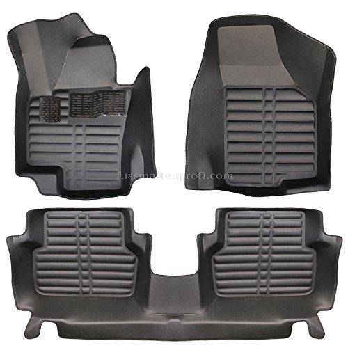 Fußraum Schalen 3D Auto Fußmatten Passend für VW Tiguan (1.Gen) Baujahr 2007-2016