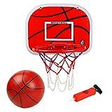 Tama/ño oficial anillo de baloncesto Adecuado para adultos y ni/ños 45 cm aro red y montaje en la pared fijaciones