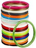 Amazon Basics PLA 3D Printer Filament, 1.75mm, 22 Assorted Colors, 1.25 kg