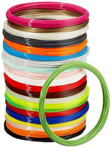 Amazon Basics 3D-Drucker-Filament aus PLA-Kunststoff, 1,75 mm, 22 verschiedene Farben, 1,25 kg