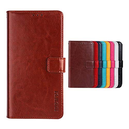SHIEID Hülle für TP-LINK Neffos C5 Plus Hülle Brieftasche Handyhülle Tasche Leder Flip Case Brieftasche Etui Schutzhülle für TP-LINK Neffos C5 Plus(Braun)