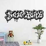 Calcomanía de pared, pegatina de vinilo, Nueva York, EE. UU., Graffiti, decoración del hogar, Mural, póster, pegatinas de pared, mural A5 42x14cm