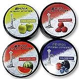 EKNA® Steam Stones - Juego de 4 mezclas de fruta (120 g, sin nicotina, repuesto para tabaco, cachimba, piedras de vapor con sabor intenso (juego de 4)