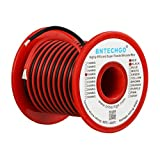 BNTECHGO 18 Gauge Silicone Wire Spool Red and Black Each 50ft 2 Separate Wires Flexible 18 AWG Stranded Copper Wire