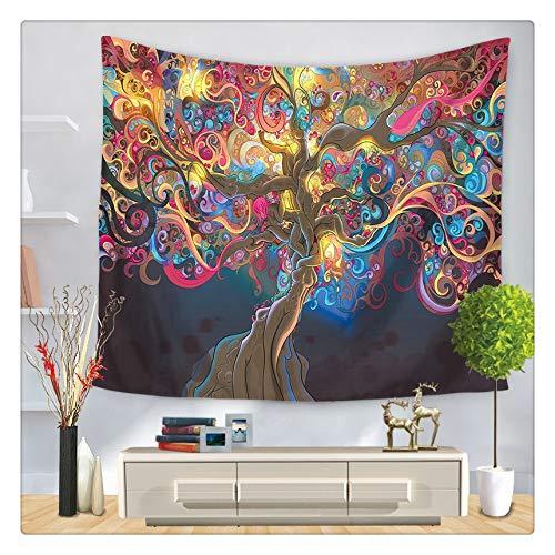 N / A Hongbo Hippie Mandala patrón Tapiz Pintura Abstracta Arte Manta Colgante de Pared Sala de Estar decoración artesanías A3 95 cm x 73 cm