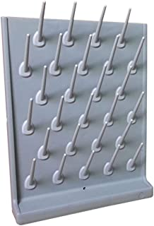 INTBUYING Grey 27 Pegs Wall Desk Drying Rack Education&lab Cleaning Frame Support
