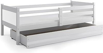Cama Infantil Rino 190 x 80 con cajón, somier y colchón de espuma de REGALO