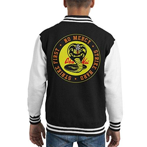Cobra Kai Snake Logo No Mercy Kid's Varsity Jacket