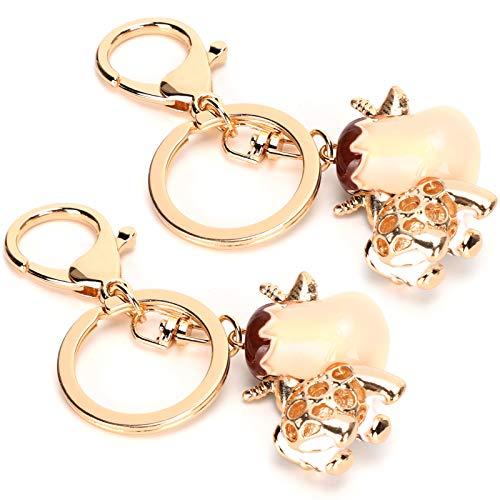 Anillos de cadena y salto 2 piezas Accesorios de manualidades de joyería de bricolaje, cierres giratorios de oro para manualidades de bricolaje de joyería clave