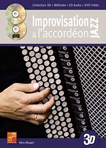 Maugain Improvisation Jazz A L\'Accordeon En 3D Acdn Bk/Cd/Dvd French