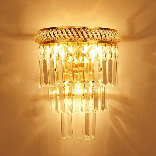 CHOUCHOU Apliques Pared Creativa de la Sala de Cristal Europea lámpara de Pared de Las escaleras del Pasillo Dormitorio de Noche lámpara de Pared cristalina Moderna Lámparas Minimalista