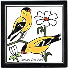 product image for GOLDFINCH TILE, GOLDFINCH WALL PLAQUE, GOLDFINCH TRIVET