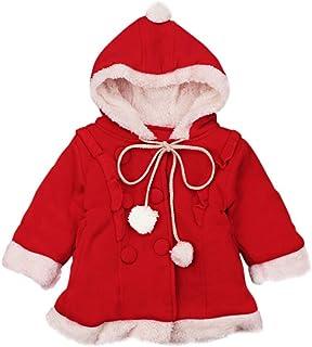 eb83d1a0f693d Kolylong Manteau à Capuche de Ski Enfants bébé Filles Veste Rouge vêtements  hvier migon Tenue Hooded