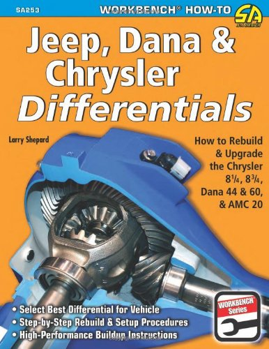 Price comparison product image Jeep,  Dana & Chrysler Differentials: How to Rebuild the 8-1 / 4,  8-3 / 4,  Dana 44 & 60 & AMC 20 (Workbench How-to)