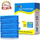 ALIKEY 300 Count Baby Disposable Diaper Sacks Bags,100% Biodegradable Diaper Bags Easy-Tie