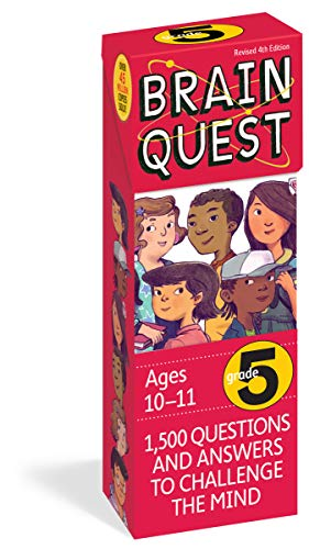 Brain Quest 5th Grade Q&A Cards: 1,500 Questions and Answers to Challenge the Mind. Curriculum-based! Teacher-approved! (Brain Quest Decks)