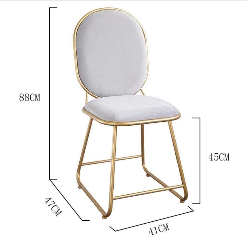 GYJ Simple Chaise Bureau étudiant et Chaise de Maquillage Tabouret Retour à la Maison à Manger Chaise d'ordinateur Unique (Color : Gray) White