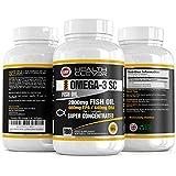 HC Omega 3 Capsulas 2000mg Fish Oil - 180 Gel Capsulas Blando de Triple Fuerza - Formula con 1000mg de EPA y 500mg de DHA - Antiinflamatorio Muscular y para Articulaciones - Hecho en Reino Unido