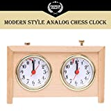 BETTERLINE Analog Chess Clock Timer   Professional-Grade Wooden Clock   Wind-Up Mechanism   Large Easy-to-Read Dials   No Battery Needed   by Better Line