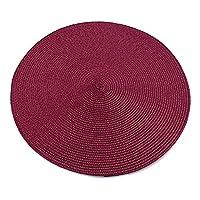 プレースマット ラウンド織りのままのテーブルマットナプキンマットコースターマットキッチンパーティーの装飾 (Color : 1)