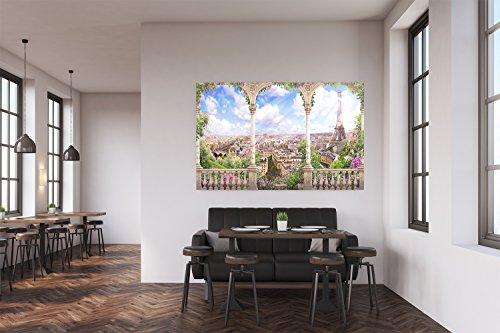 Oedim Cuadro PVC Torre Eiffel a Través de Arcada | Cuadros Modernos Baratos | Cuadros Decoración | Cuadros Vitage | Cuadros Salón | Cuadros Decoración Salón | 100x100cm | Facil colocación |