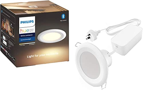 Philips Hue Garnea White Ambiance 90 mm Garnea Downlight Smart LED (Latest Model, Compatible with Bluetooth, Amazon A...
