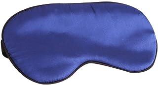 SYLOZ Sleep mask, Double-Sided Silk Shade Breathable Eye mask, Ideal for Travel, nap, Sleep (Color : Blue)