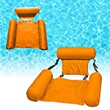 Inflatable Swimming Floating Chair Pool Float Lounge ,Adults Water Chair Lounge, Portable Swimming Pools Hammock Lounge Chair Water Inflatable Floating Bed Sofa (red)