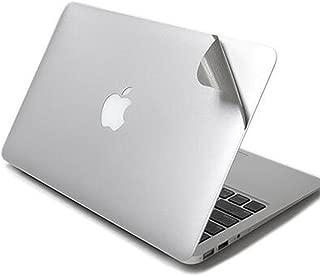 New MacBook Pro 13インチ 2016 スキンシール MaxKu 硬度4H保護シート 防水 キズ防止 防塵 本体保護フィルム 表面裏面対応 スキン (対応モデル:2016 New MacBook Pro 13 Touch Bar搭載A1706 / Touch BarなしA1708)(シルバー)