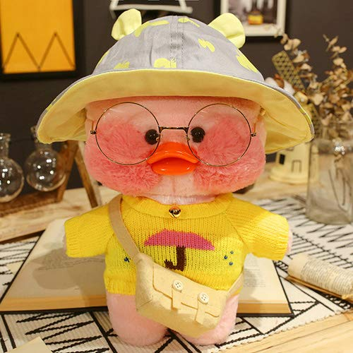 Happy Monkey Cute Plush Doll Toys New Kawaii Fluffy Soft Duck Doll Doll Toy Toy para niños Niños Adultos Cumpleaños 30CM