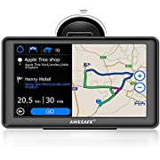 AWESAFE GPS Voiture Auto Europe 7 Pouces Ecran Tactile Bluetooth Cartographie Europe 52 à Vie Mise à Jour