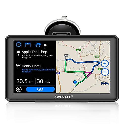 AWESAFE GPS Voiture Auto Europe 7 Pouces Ecran Tactile...