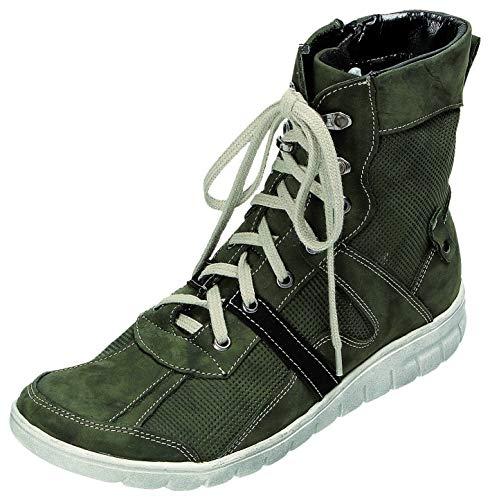 MICCOS Shoes Stiefel D.Schnürstfl in dunkelgrün, Größe 37.0,