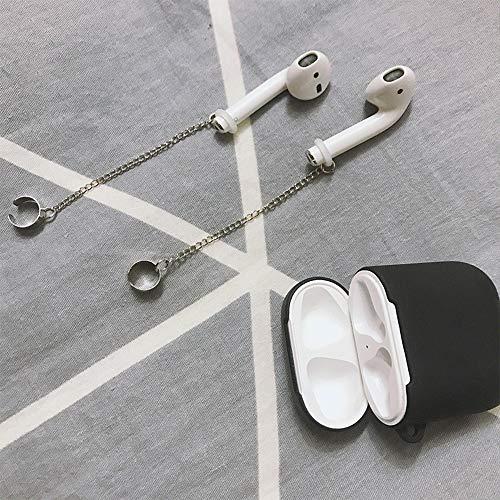 TWIKIK Quaste Ohrstecker Clip-Stil Anti-verlorene Ohrring für Airpods 2 Vintage minimalistischen Kette Ohrringe Ohr Manschette Nicht Piercing