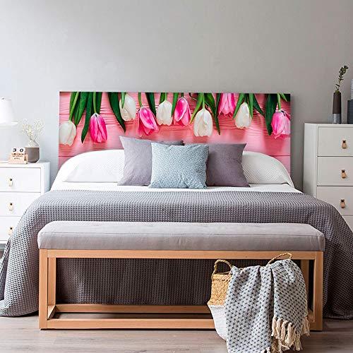 setecientosgramos Cabecero Cama PVC | Tulipans | Varias Medidas | Fácil colocación | Decoración Dormitorio (150x60cm)