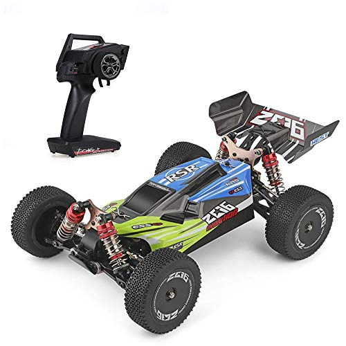 Gxscy RC Car 144001 60km / h High Speed ​​1/14 2,4 GHz RC Buggy 4WD Racing Off-Road Drift Car RTR Metallgehäuse Welle Kugellager Getriebe Hydraulic Shock Absober Spielzeug-Geschenk for Kinder