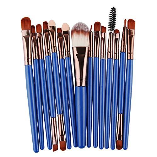 Kit de maquillage pour outils de maquillage Pro Makeup Poudre de fard à paupières Ombre à paupières Pinceau à lèvre en poils souples en fibre (15 pcs) Pinceaux à maquillage LTJHHX