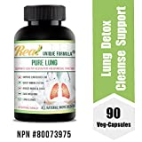 Top Lung Support Supplement + Chaga Mushroom Powder, Turmeric, Herbal Bronchial Ingredients, Honeysuckle